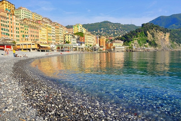 Camogli Beach in Liguria